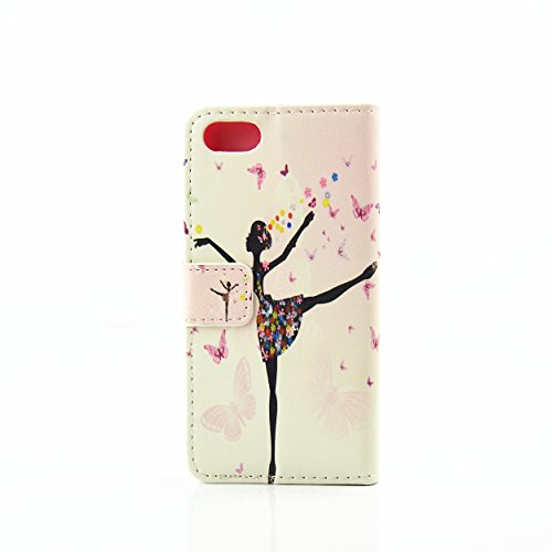 iPhone 7 Plus Flip Case Coque,iPhone 7 Plus Glitter Coque,iPhone 7 Plus Wallet Case Coque,iPhone 7 Plus Cuir Case Coque,EMAXELERS iPhone 7 Plus Leather Case Wallet Flip Protective Cover Housse Swag,iP Butterfly Fairy 5