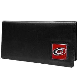 NHL Carolina Hurricanes Executive Genuine Leather Checkbook Cover