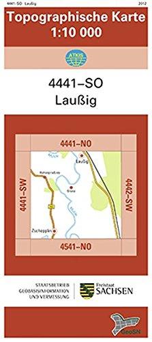 Laußig (4441-SO): Topographische Karte 1:10 000 (Topographische Karten Sachsen 1:10 000 (TK 10); amtlich)