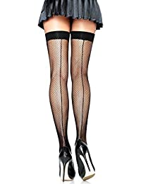 Distressed Striped Thigh Highs Red Grey Ripped Hold ups Long Socks Punk
