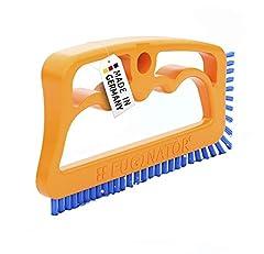 Idea Regalo - Fuginator Spazzola per Fessure, fughe, Giunti - Arancione/Blu - Universale per Bagno, Cucina e casa