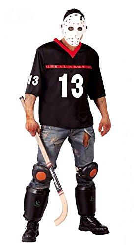 Halloween-Kostüm Freitag der 13. für Herren Toter Hockeyspieler Jason Horror Killer, Größe:L