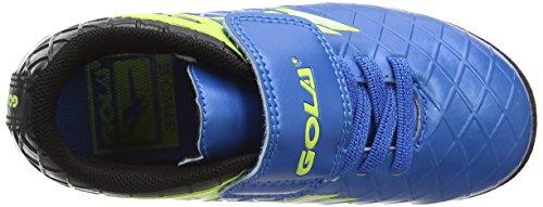 Gola Talos Vx Velcro, Scarpe da Calcio Unisex – Bambini Blu (Blue/black/volt)