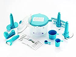 Vivir Advance 10 In 1 Vegetable Cutter And Food Processor (Blue)