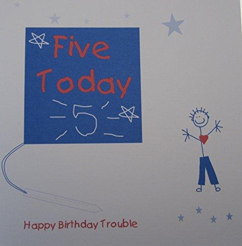 schede-bianche-di-cotone-1-piece-dei-ragazzi-5th-birthday-card