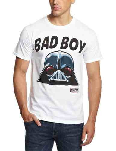 Offizielle Angry Birds Star Wars 'Bad Boy' Adult T-Shirt Größe L - Autismus-t-shirts