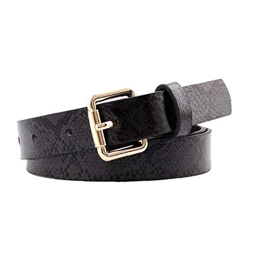 Aisoway Flacas Cinturones De Piel De Serpiente En Relieve Pu Vestido De Cuero De La Cintura De Mujer Cinturón Con Hebilla