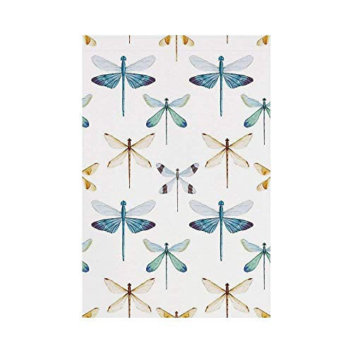 gthytjhv Dragonfly Collection of Regularly Lined Up Limitless Dragonfly Patterns Short Lives Symbol Orange Blue House Garden Family Event Decoration -