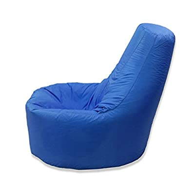Large Bean Bag Gamer Recliner Outdoor And Indoor Adult Gaming XXL Blue - Beanbag Seat Chair (Water And Weather Resistant)