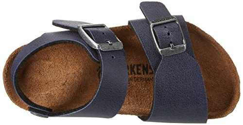 Birkenstock New York, Bride cheville mixte enfant Bleu (Pull Up Navy)
