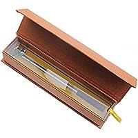 Kofull - Juego de 3 bolígrafos de golf, tamaño pequeño, diseño de palos de golf, color amarillo