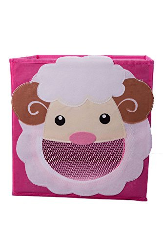 Smiling Sheep Collapsible Toy Storage Box and Closet Organizer for Kids -
