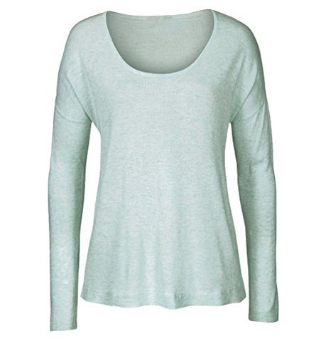WanYang Femmes Tops Splicing Casual T-shirt à Manches Longues Sport Tops Vert