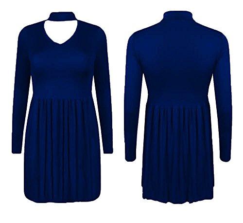 Generic - Robe - Robe - Uni - Manches Longues - Femme * taille unique Bleu Marine