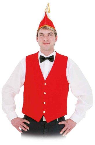 Rote Weste Kostüm - Orlob Weste in rot zum Herren Kostüm an Karneval Fasching Gr.56/58