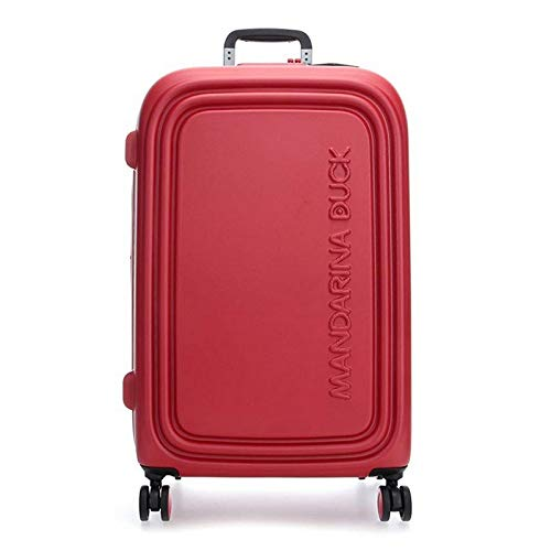 Mandarina Duck Logoduck + Valigia trolley 4 ruote rosso