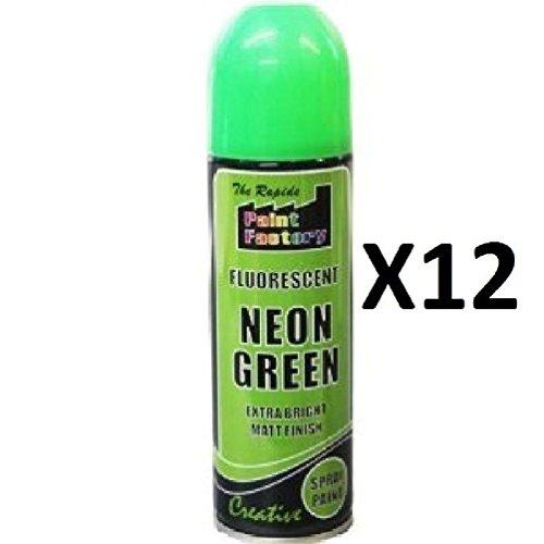 12x-fluorescent-neon-green-easy-quick-spray-paint-matt-200ml-auto-car-creative