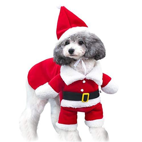mama stadt Haustier Weihnachten Kostüme Hund Anzug mit Mütze Weihnachtsmann Anzug Hund Hoodies Katze Weihnachten Kostüme Party Anzug Warm im - Party Stadt Von Kostüm
