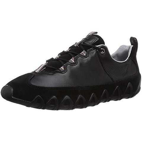 ECCO Dayla Black/Black Suede/Feather - Zapatillas Mujer