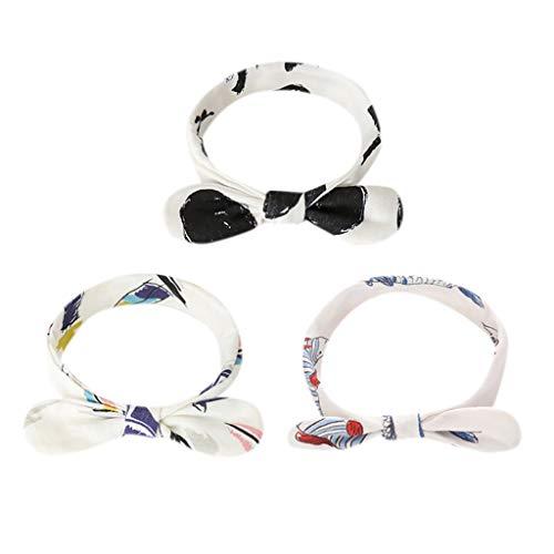 Mitlfuny Unisex Baby Kinder Jungen Zubehör Säuglingspflege,3 Stücke Neugeborenen Kleinkind Kind Baby Knoten Turban Stirnband Headwear Zubehör