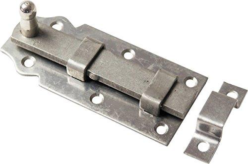 Preisvergleich Produktbild Türriegel ROSTFR TUERRIEGE L-GERAD-100MM 10921G - HAN: 70921 G