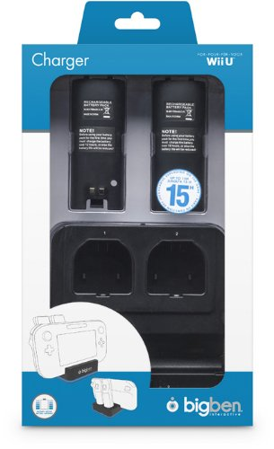 Bigben Interactive - Dual Charger, Color Negro (Nintendo Wii U)