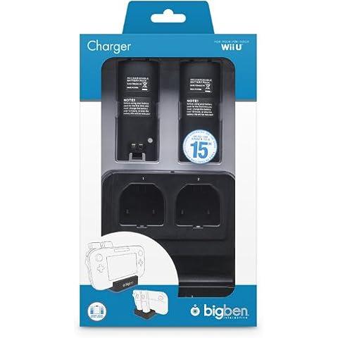 Bigben Interactive - Dual Charger, Color Negro (Nintendo Wii U)
