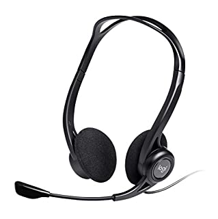 Logitech PC 960 - Auriculares de Diadema Abiertos (con micrófono, Control Integrado, USB), Color Negro (B0013N474I) | Amazon price tracker / tracking, Amazon price history charts, Amazon price watches, Amazon price drop alerts