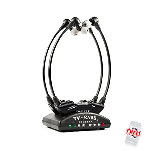 tv ears amazon. tv ears 5.0 digital 2er pack tv-kopfhörer zur hörunterstützung \u2013 kabellose hörhilfe mit zusätzlichen tv amazon