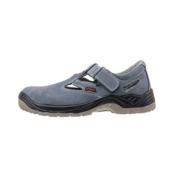 Sandalias de seguridad muy ligeras, color gris, antiestáticas, con puntera de acero 302S1, UK4 – EU36, gris, 140