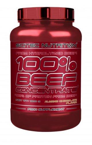 Scitec Nutrition 100% Beef Concentrate 1000g Mandeln-Schokolade - Der Stier in Dir - Top-energy24 Spezialangebot