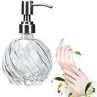 AOLVO Dispensador de jabón de Vidrio soplado, 9 onzas, dispensador de jabón de lavandería