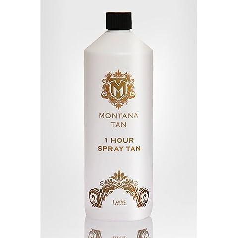 Montana Tan 1 ora spruzzare soluzione abbronzatura. Falso istante Tan. 20% DHA 1 litro