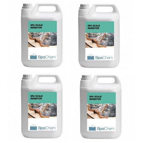 4x 5L Spa Maßstab Inhibitor von spachem–Whirlpool Anti Maßstab Entferner, Entkalker, Kalk Prävention keine Maßstab verhindern, und Entfernen Maßstab & Fleck Whirlpool Pools Away Spas–Bulk kaufen