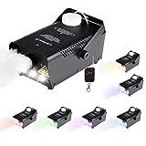 Virhuck Nebelmaschine 500W Faltbar mit farbige Lichter Drahtloser Fernbedienung Bühnen-und Party-Nebelmaschine für Halloween Feiertage Hochzeiten