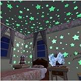 Adesivi Fluorescenti per Cielo Stellato Adesivi Luminosi a Forma di Stelle da Parete per Cameretta dei Bambini