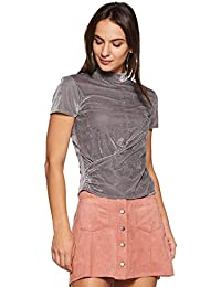 Amazon Brand - Symbol Women's Plain Slim Fit Top