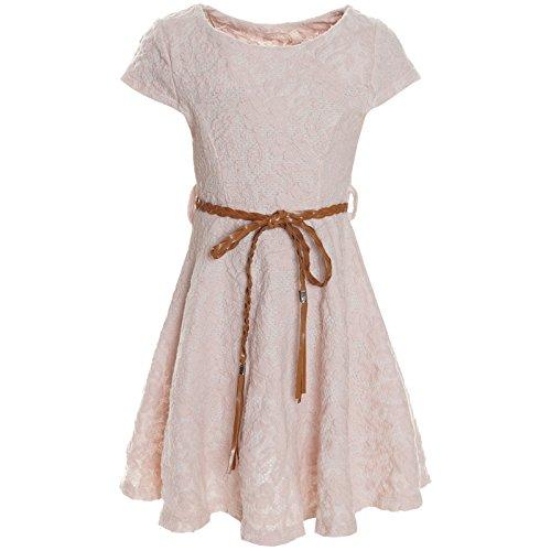 BEZLIT Kinder Mädchen Kleid Peticoat Fest Freizeit Sommer-Kleider Kostüm 21228, Farbe:Rosa;Größe:104