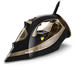 Philips Gc452780 Azur Performer Plus Steam Iron With 220 G Steam Boost, 2600 W - Black & Gold