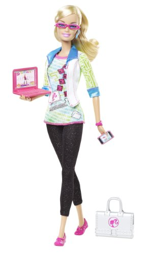 Barbie Mattel T7173, wäre gern... Computer-Expertin, Puppe