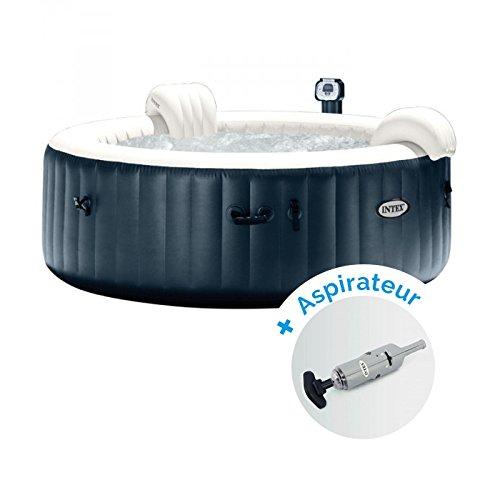 Pack Spa gonflable Intex Pure Spa Plus Bulles 6 personnes + Aspirateur nettoyeur à batterie