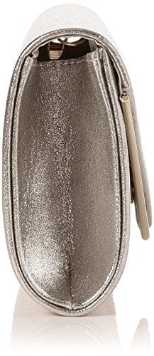 Swanky Swans - Kim Metallic Envelope Bag, Pochette da giorno Donna Argento (Silver)