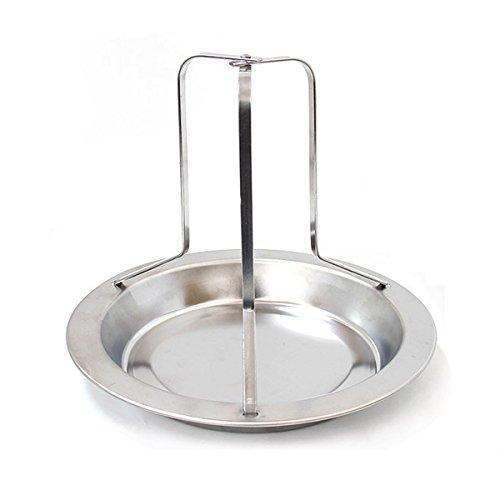 jiele Huhn Braten Rack Edelstahl Vertikal Bräter Rack gebackener Platte Kitchen Craft Antihaft-BBQ Zubehör Kochen Werkzeug (Edelstahl Braten-rack)