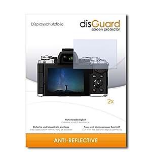 2 x disGuard Anti-Reflective Film protecteur d'écran pour Olympus OM-D E-M5 Mark II / OMD EM5 Mark 2 - Qualité supérieure (revêtement dur adhésif, antiréflexion, montage sans bulles)