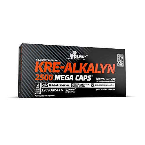 Olimp Kre-Alkalyn 2500 Mega Caps | Creatine | 30 Portionen | 120 Kapseln, 1er Pack (1 x 170,4 g) - Creatine-120 Caps