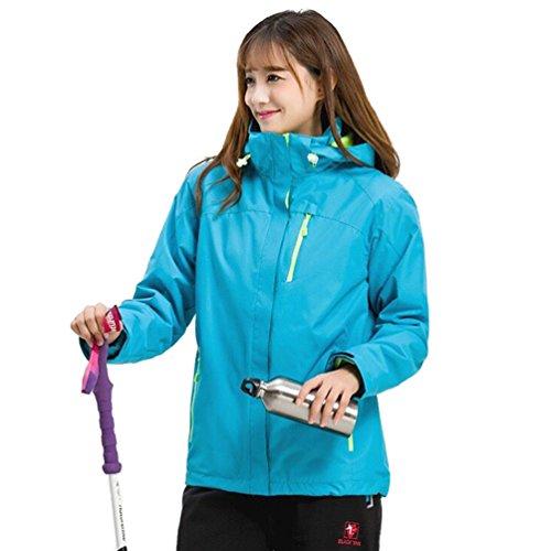 NiSeng Unisex Wasserdichte Jacke Softshell Jacke Fleece Liner Funktionsjacke Outdoor Trekkingjacke Winter HimmelBlau (Frauen) XL Jacke Fleece Liner