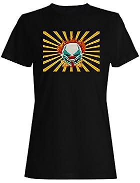 Loco payaso busca y destruye asesino camiseta de las mujeres o6f