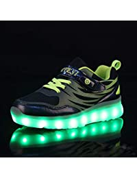 810be6b988ca7 WQING Enfants colorés LED Light Up Shoes Garçons et Filles Bébé Luminous  Sneakers ...