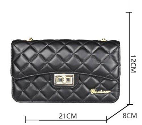 Zaino Da Donna Moda Classica Lingge PU borse Croce Diagonale Borsa A Tracolla Black