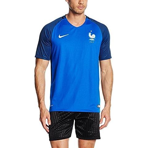 Nike FFF M SS HM Stadium JSY - Camiseta de manga corta de la línea Selección de fútbol de Francia para hombre, color azul, talla